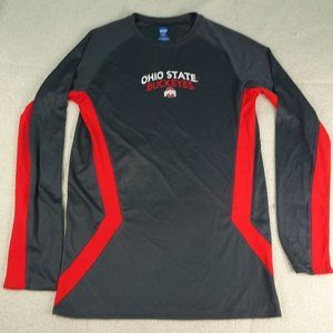 NCAA Ohio State Red/Gray L/S Athletic Shirt Small